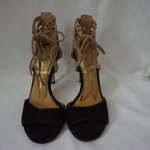 Dolce Vita Black & Brown Lace Up Sandal